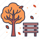 autumn, nature, tree, season, park, fall, leaf icon