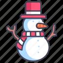 christmas, decoration, hat, season, snow, snowman, winter icon