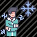 coat, cold, cool, person, season, winter icon