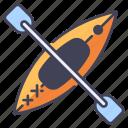 activity, adventure, kayak, kayaking, sport, summer, vacation icon