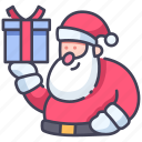 christmas, claus, gift, holiday, santa, winter icon