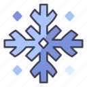 christmas, season, snow, snowfall, snowflake, winter icon
