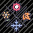 autumn, nature, season, spring, summer, weather, winter icon