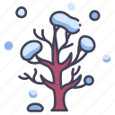 winter, nature, tree, cold, season, snow, branch icon