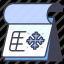 calendar, date, month, season, snow, winter, year
