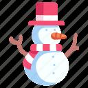 christmas, decoration, hat, season, snow, snowman, winter