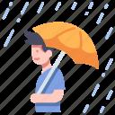 autumn, day, rain, rainy, season, storm, umbrella