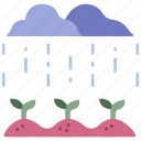 growth, leaf, nature, plant, rain, season, water