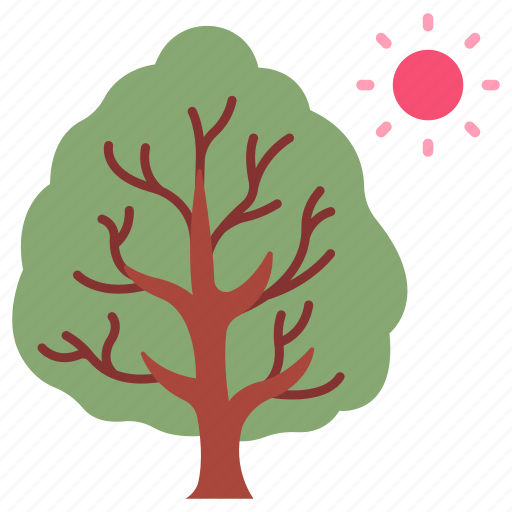 Sunnym, sun, natural, branch, nature, tree icon - Download on Iconfinder