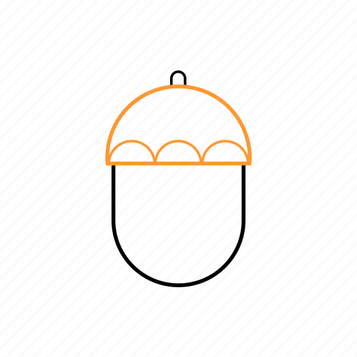 food, natural, oak, outline icon