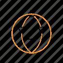 horror, outline, pumpkin icon