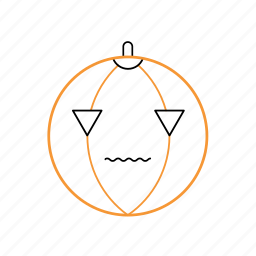horror, outline, pumpkin icon