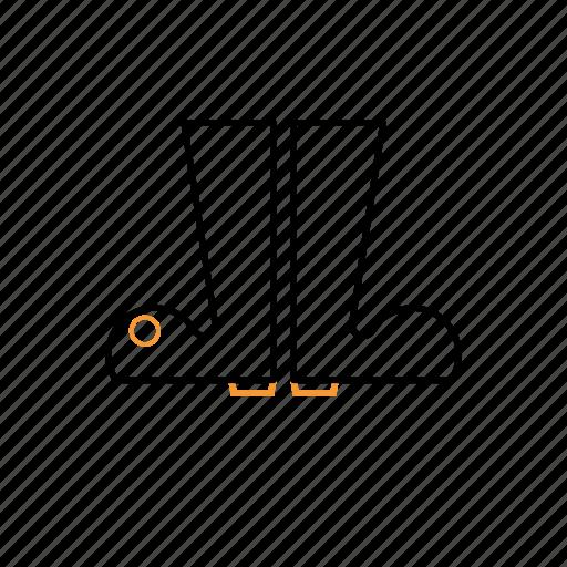 boot, fashion, outline icon