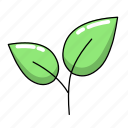 leaf, leaves, plant, sapling icon