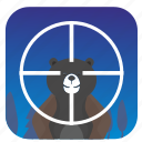 animal, bear, hunter, nature, shot, target icon