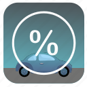 car, nature, percent, sky icon