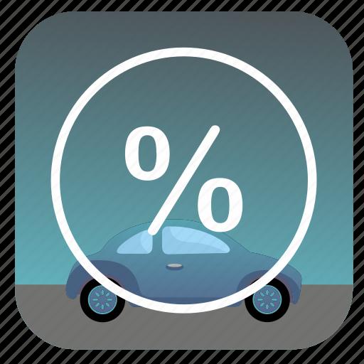 car, nature, percent, sky icon