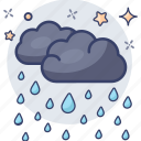 mist, raining, hail, rainfall, drizzling, rainstorm, weather icon