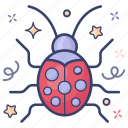 fly insect, insect, lady beetle, ladybird, ladybug icon