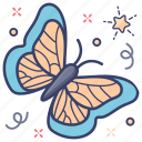 bird, butterfly, fly, insect, moth icon