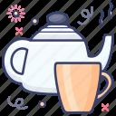 kitchen utensil, tea container, tea kettle, teapot, vessel icon