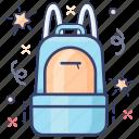 backpack, knapsack, luggage, suitcase, tourist bag, travelling bag icon