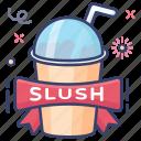 cold drink, drink, fizzy drink, slush, soda drink, takeaway drink icon