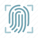 access, device, fingerprint, protection, scan, security, technology icon