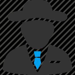 detective, fbi agent, hacker, secret service, security, spy, thief icon
