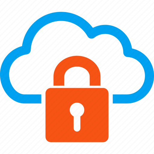 cloud, lock, locked, password, private, protection, safety icon