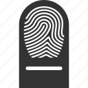 biometric identification, finger, finger print, fingerprint, identity, touch, trace icon