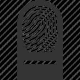 biometric identification, finger, finger print, fingerprint, identity, touch, trace icon