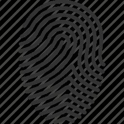 biometric, finger, finger print, fingerprint, print, touch, trace icon