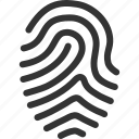 biometric identification, finger print, fingerprint, fingers, identity, touch, trace icon