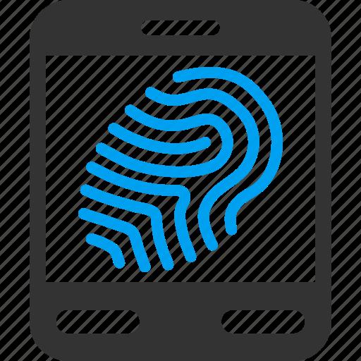 biometric identification, biometry, finger print, fingerprint scanner, identity, trace, track icon