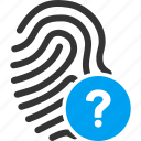 biometric identification, finger print, fingerprint, identity, status, touch, trace icon