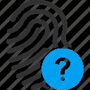 biometric identification, finger print, fingerprint, identity, status, touch, trace icon