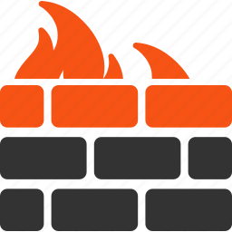 antivirus, fire wall, firewall, guard, protection, security, shield icon