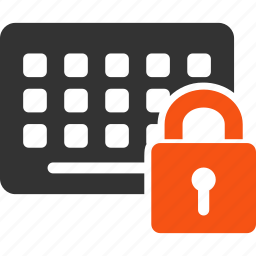 device, key, keyboard, keypad, lock, locked, secret icon