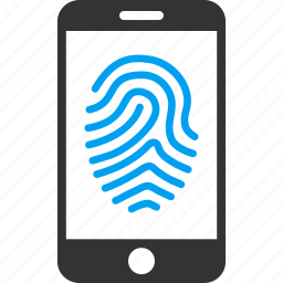 authorization, biometric identification, finger print, fingerprint, identity, mobile, trace icon