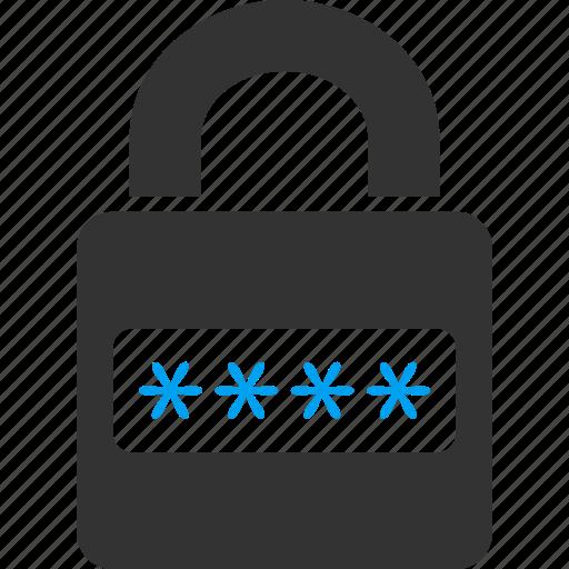 access code, lock, login, password, register, safety, unlock icon