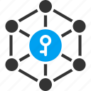 access, asymmetric cryptography, open key, password, public key, secret, security icon