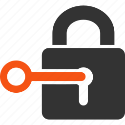 access key, lock, login, password, register, secrecy, unlock icon