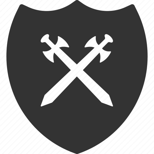 guard, protect, protection, safety, security, shield, swords icon