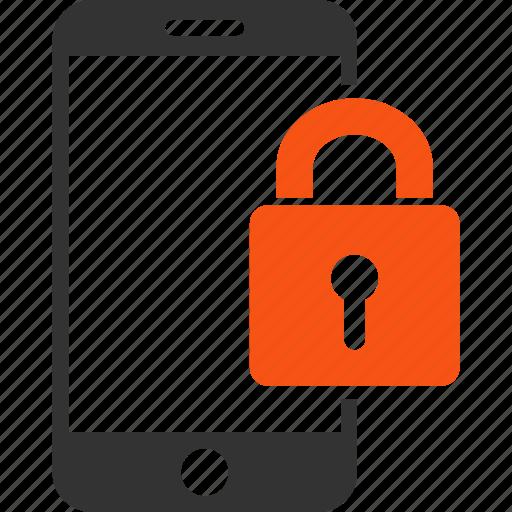 lock, locked smartphone, mobile, phone, protection, screen locker, security icon