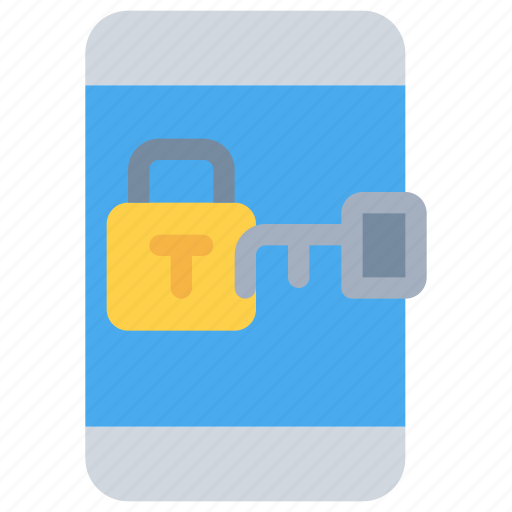 mobile, padlocks, secure, security, smartphone icon