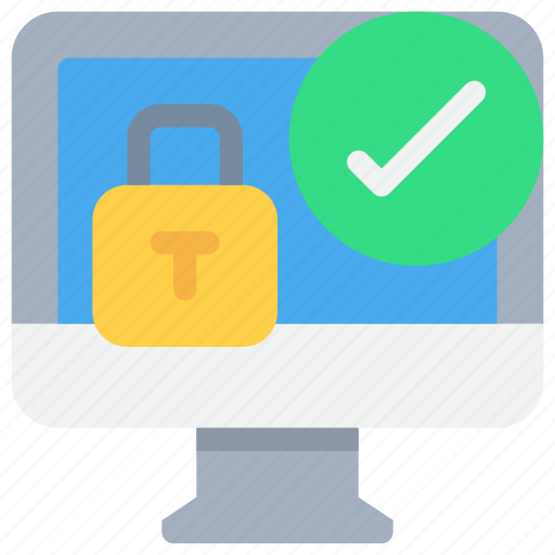 computer, login, padlock, secure, security icon