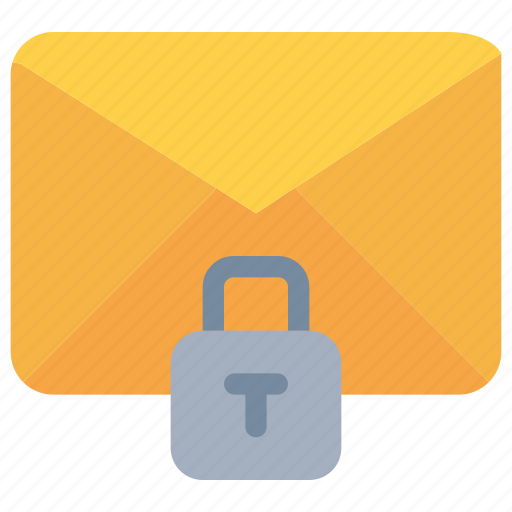 data, email, mail, padlock, secure, security icon