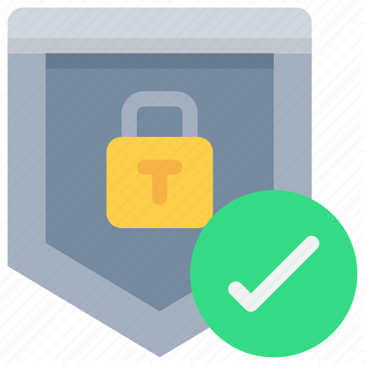padlock, secure, security, shield icon