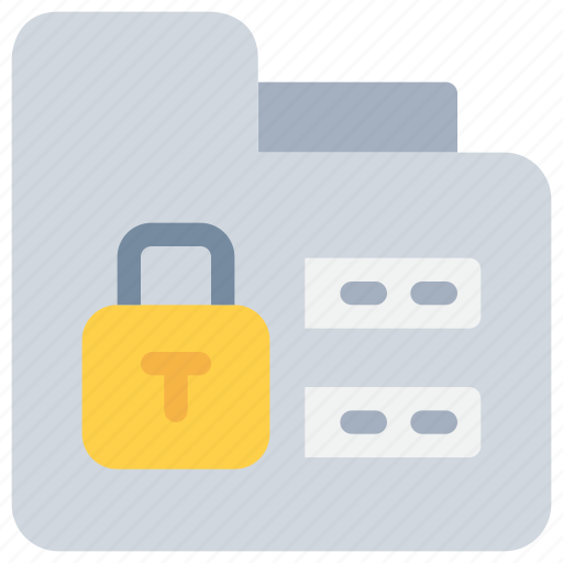 data, folder, password, protection, secure, security icon